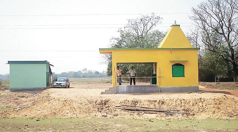 The first ever temple to Tushu came up in Gopiballavpur in January. Sarah Hafeez