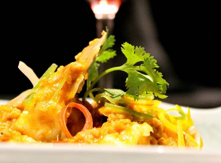 One of the creations from the 'Wine Oriental menu'.