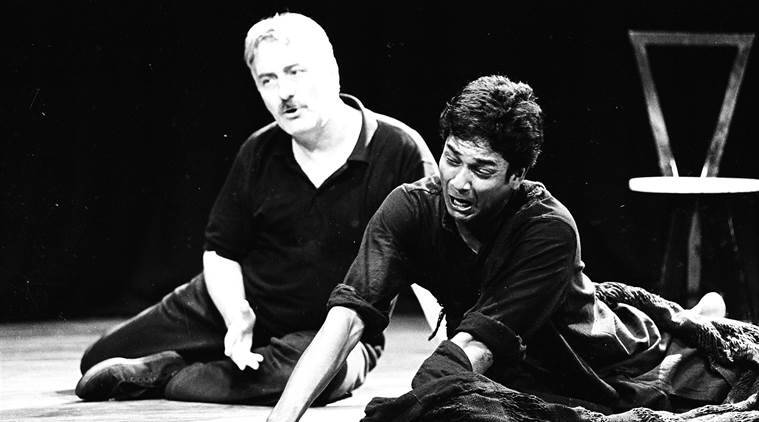 I am not what I am: Adil Hussain and Barry John at a performance.