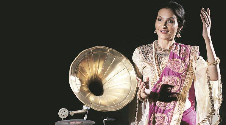Actress Rajeshwari Sachdev enacts Gauhar Jaan in the play to be staged at Tagore Theatre in Chandigarh on April 10.  Express