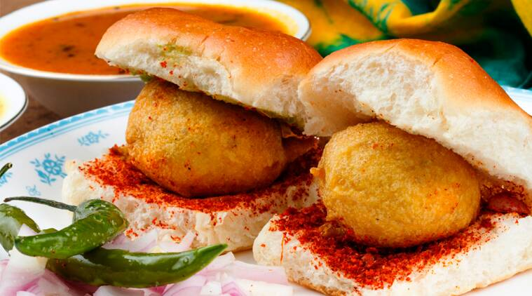 Chinese chicken vada pav at The Ancient Barbeque's Banta & Gola Festival in Gurgaon.