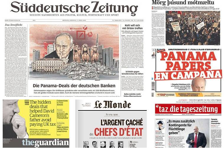 How newspapers across the globe covered the #PanamaPapers leaks.