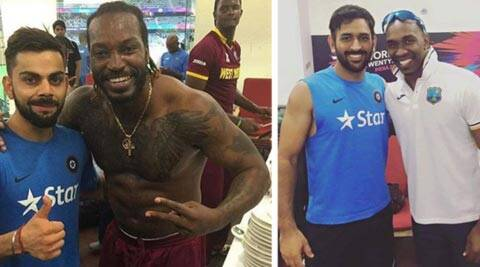 After loss in the semi-final, Virat Kohli and MS Dhoni visit West Indies dressing room; clickpictures
