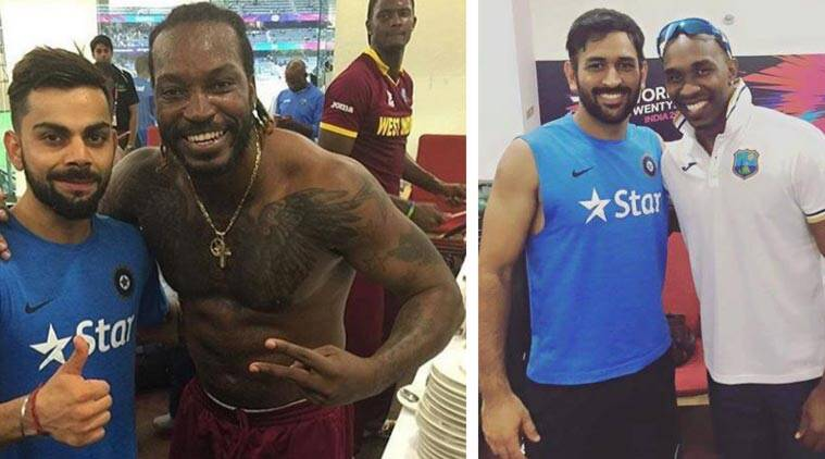 Virat Kohli, MS Dhoni visit West Indies dressing room after the semi-final loss; click pictures