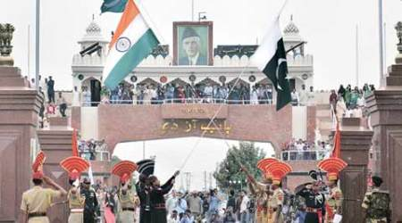At the Attari-Wagah border, a national flag so high 'it will be seen in Lahore'