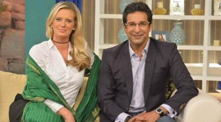 Wasim Akram proposes to wife Shaniera on TV