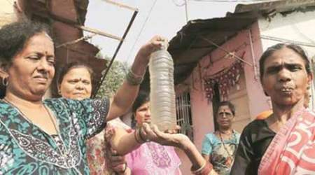BMC, mumbai water problem, dirty water, contaminated water in mumbai, waterless in mumbai, mumbai water crisis, indian express mumbai
