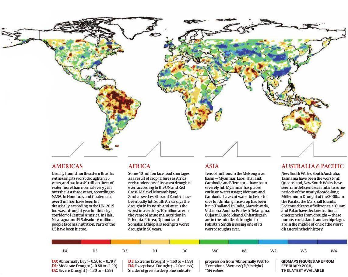 Dry planet: In every continent, flashing red   Explained ...