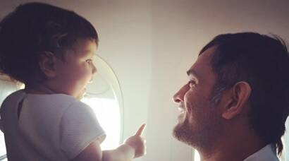 MS Dhoni, daughter Ziva's adorable moment clicked by mom Sakshi, see pics