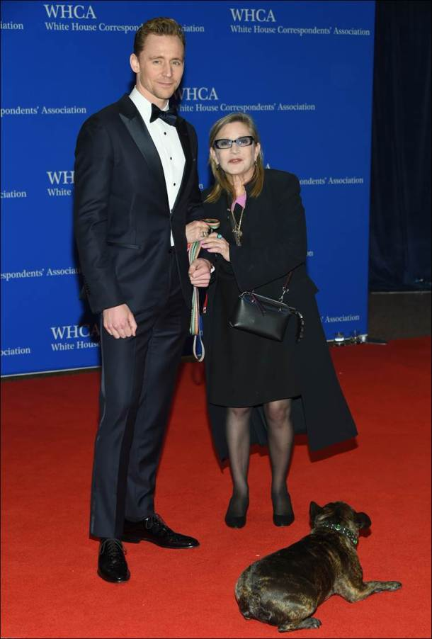 Tom Hiddleston, Carrie Fisher