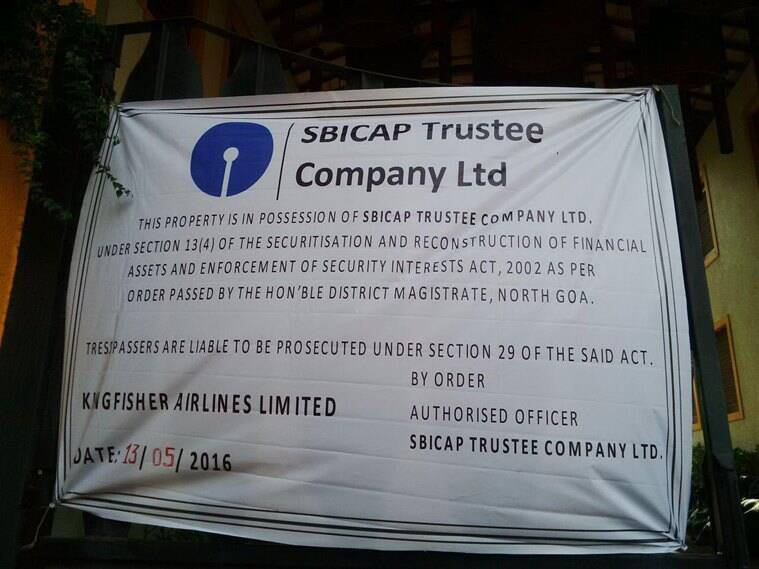 The notice put up by SBICAP