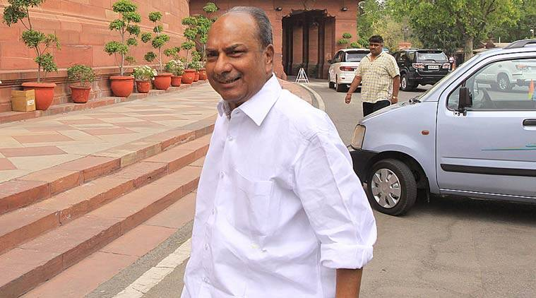 Former Defence minister and senior Congress leader AK Antony.