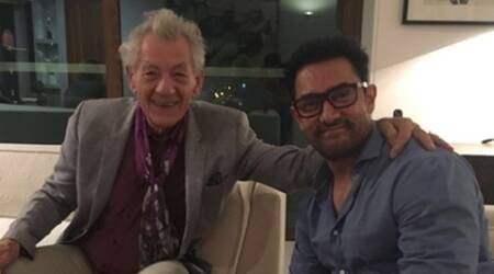 Aamir Khan, Ian McKellen, Ian McKellen aamir, Kiran Rao, MAMI Film Club, Aamir Khan news, Aamir Khan wife, Aamir Khan kiran rao, entertainment news