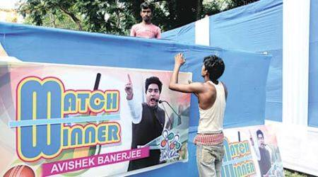 West Bengal: At swearing-in venue, posters fete 'real match-winner' Abhishek