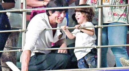 Shah Rukh Khan, AbRam practise dance moves for KKR match
