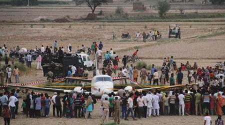 At air ambulance crash-landing site: Police, paramilitary hold fort as locals gather for closer look
