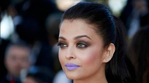 Aishwarya Rai Bachchan's purple lips trolled on Twitter | The Indian Express