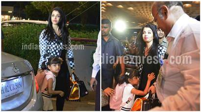 PHOTOS: Aishwarya Rai leaves for Cannes with daughter Aaradhya, see pics | The Indian Express