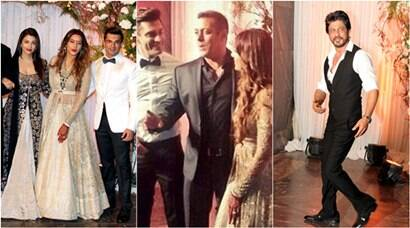Aishwarya Rai Bachchan, Salman Khan, SRK at Bipasha Basu, Karan Singh Grover's wedding reception