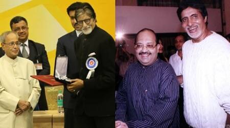 Amar Singh congratulates Amitabh Bachchan for National Award