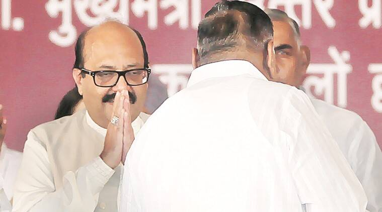 It was on August 5, 2014 that Amar Singh shared stage with Mulayam, four years after being expelled from SP. Archive