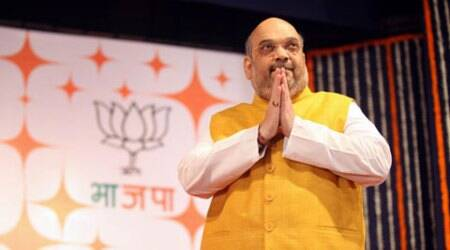 Amit Shah, Amit Shah Punjab visit, Amit Shah visit, Vijay Sampla, BJP, Punjab polls, SAD, news, latest news, Punjab news, India news, national news