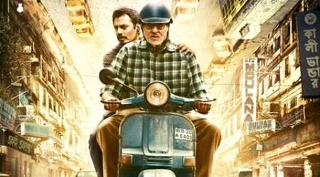Amitabh Bachchan, Nawazuddin Siddiqui ride scooter in 'TE3N' poster