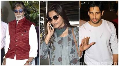 Amitabh, Sonam and Sidharth's airport diaries