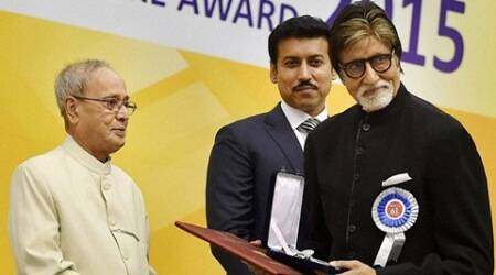 National Awards: Amitabh Bachchan 'touched' by President Pranab Mukherjee's speech