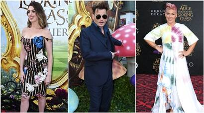 Anne Hathaway, Pink, Johnny Depp at the premiere of Alice Through the Looking Glass