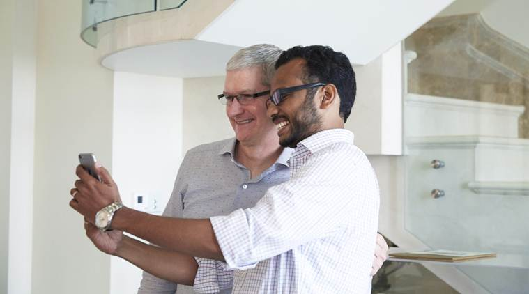 Apple, Apple CEO, Tim Cook India, Tim Cook India visit, Tim Cook Hyderabad Maps centre, Apple Hyderabad maps office, Apple Maps in india, Apple India Tim Cook, Apple CEO Tim Cook, Tim Cook Full interview, Apple Bengaluru iOS centre, Apple centre, Tim Cook on Donald Trump, technology, technology news