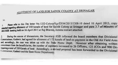 J&K moves to identify land in Valley for Sainik colonies