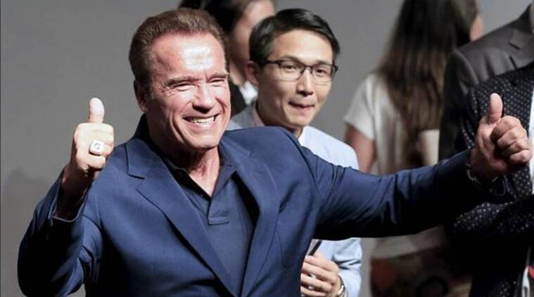 Arnold Schwarzenegger, donald trump, Arnold Schwarzenegger donald trump, Arnold Schwarzenegger news, Arnold Schwarzenegger actor, Arnold Schwarzenegger politician, Arnold Schwarzenegger trolls trump, Arnold trump, hollywood news, entertainment updates, indian express, indian express news, indian express entertainment