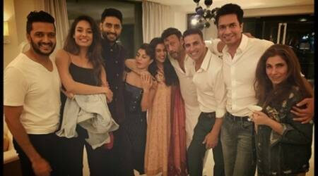 Asin hosts dinner for friend Akshay Kumar's 'Housefull 3' cast