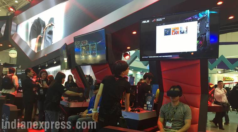 Asus showcased its own VR headset at its launch event, even though the company didn't mention the same during its keynote