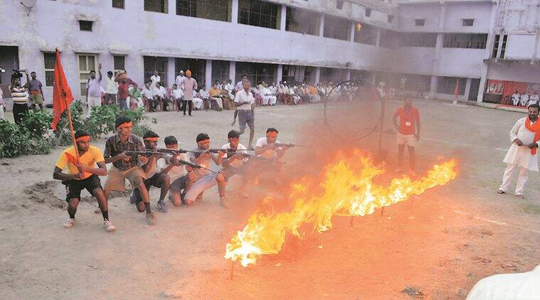 bajrang dal, self defence video, bajrang dal ayodhya, ram naik, ayodhya, karsevakpuram, vhp workshop, aligarh, india news