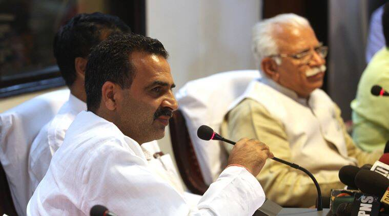 haryana, Sanjeev Kumar Balyan, Balyan, minister for water resources, canal, water supply, canal water supply, farmers, india news, indian express