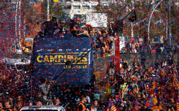Celebration in Catalonia as Barcelona clinch 24th La Liga crown
