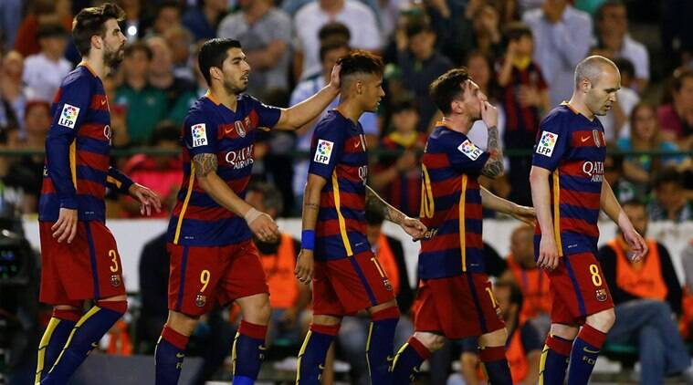 Football Soccer - Real Betis v Barcelona- Spanish Liga BBVA