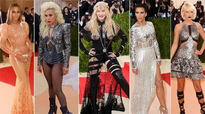 Beyonce, Madonna, Lady Gaga, Taylor Swift at MET Gala 2016