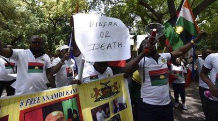 On Heroes' Day, Biafran community holds protest in Delhi seeking freedom fromNigeria