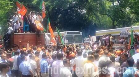 Batla House encounter: BJP stages protest, accuses Congress of propagating falsefacts