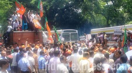 BJP workers protest over death of man in police custody