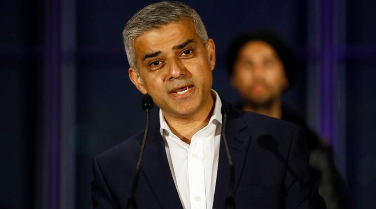 Sadiq khan in london