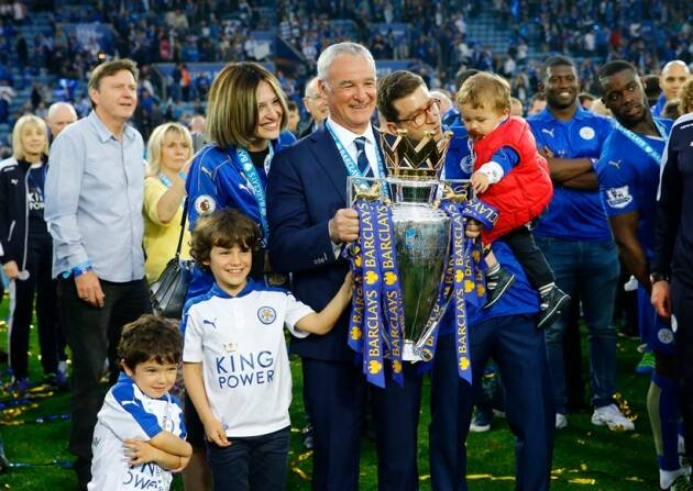 Champions Leicester City receive Premier League trophy ...