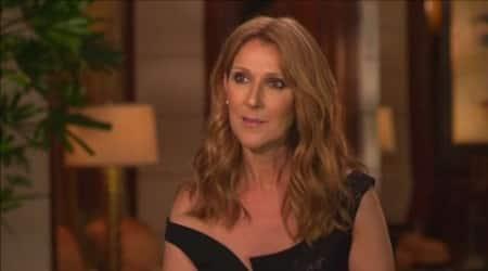 Celine Dion comforted bysons