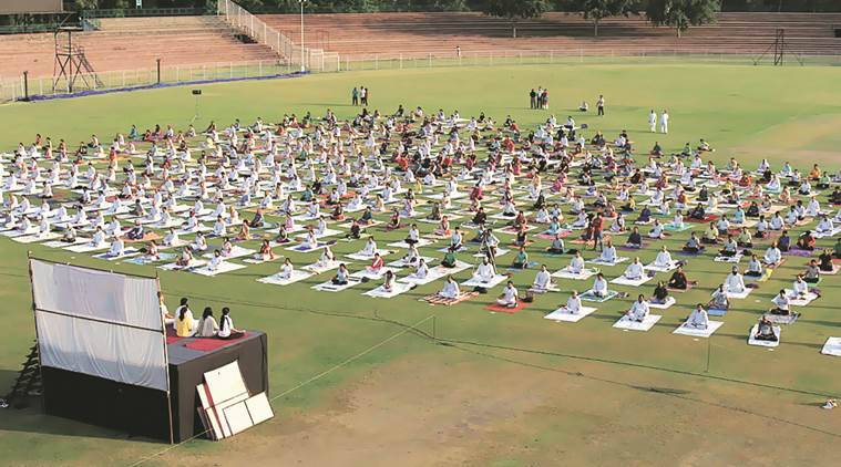 chandigarh, international yoga day, chandigarh yoga session, chandigarh yoga day, chandigarh yoga day preparation, chandigarh news,