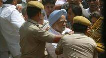 rahul gandhi, sonia gandhi, manmohan singh, congress march, sonia gandhi arrest, manmohan arrest, congress march photos, congress news, congress march news, india news, indian express