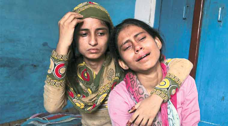 Mohammad Akhlaq's family in Dadri. (Express archive)