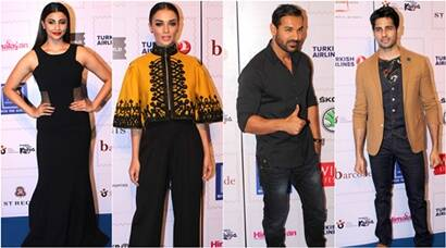 daisy shah, amy jackson, john abraham, sidharth malhotra, gulshan deviah, kartik aryan, rahul khanna, rhea chakraborty, sana khan, sooraj pancholi, travel awards, entertainment